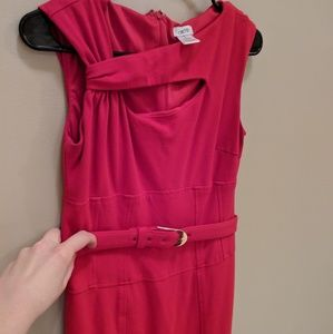 Red Cache ponte dress size 6